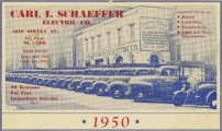 A promotional calendar from 1950 showcases the Schaeffer fleet